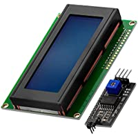 AZDelivery Modulo Pantalla LCD Display Azul HD44780 2004 con Interfaz I2C 20x4 caracteres compatible con Arduino con E-Book incluido!