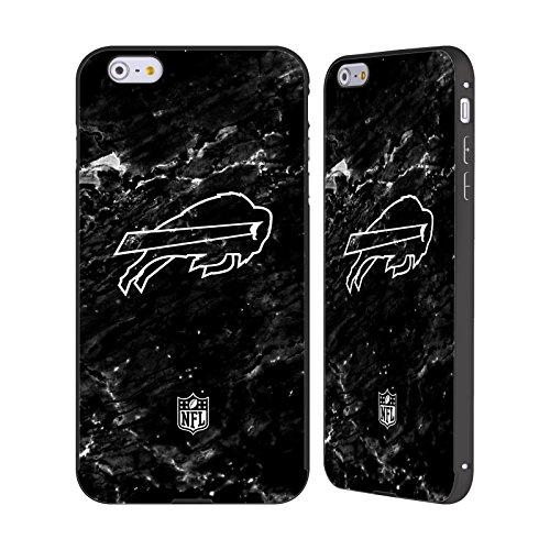 Ufficiale NFL LED 2017/18 Buffalo Bills Nero Cover Contorno con Bumper in Alluminio per Apple iPhone 6 Plus / 6s Plus Marmo