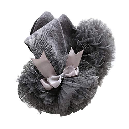 XWBO Baby Mädchen Socken mit Rüschen und Schleife kleinkind Kniestrümpfe Schlauchsocken Baumwolle Süße Prinzessin Socken 0-4 Jahre alt