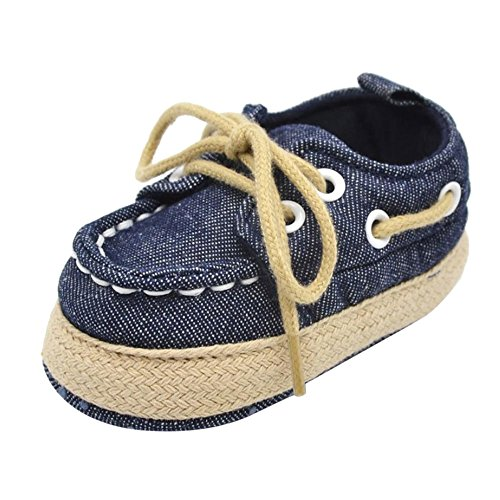 FEITONG zapatos , Baby Mädchen Lauflernschuhe Schwarz EU 40 Dunkelblau