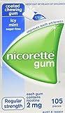 Nicorette Nicotine Gum 2mg Coated Icy Mint 1 Box 105 Pieces