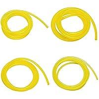 KOBWA Benzinkanister Kraftstoff Linien Schlauch Tubing Vergaser Kraftstoff Linien mit 4verschiedenen Größe für Weedeater, Chainsaw, gelb