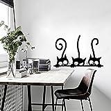 Dragon868 Adesivi Murali Tre gatti Fai da te Adesivi Murali Cameretta Cucina Salotto Home Decor (Tre gatti)