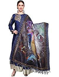 Mrinalika Fashion Cotton Silk Digital Print Dupatta (Dupattas For Womens _Salwar Suit Dgdpt08_Multi-Coloured_Free...