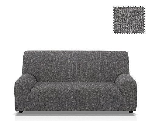 JM Textil Copridivano multielastico AIRE Dimensione 3 piazze (da 165 a 205 Cm.) Colore Bianco-Nero (Disponibile in Vari Colori)