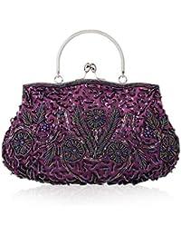 UNYU Clutch Evening Bag - Cartera de mano para mujer Multicolor