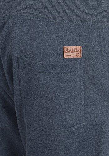 BLEND Timo Herren Sweatshorts kurze Hose Sport-Shorts aus hochwertiger Baumwollmischung Slim fit Stretch Navy (70230)