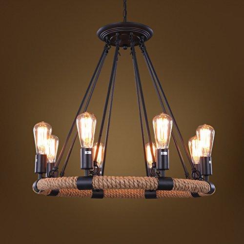 8 Light Nickel Hängen (Hanf anhänger lampe licht deckenleuchte leuchten 8 lampe halter(leuchtmittel nicht inbegriffen) restaurant cafe kronleuchter-A)