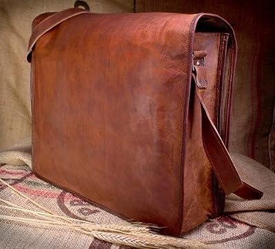 Vintage Crafts Cuir Sac à bandoulière sacoche Cuir pour homme Malette Sac d'ordinateur portable