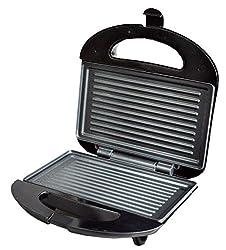 WISTEC 750 Watt Grill Sandwich Maker, Black