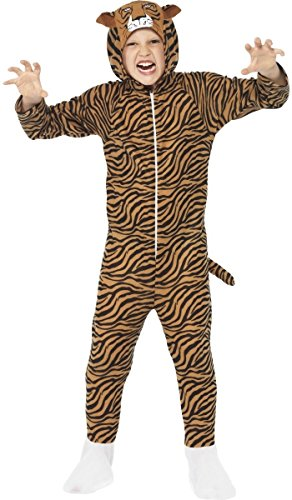 MÄDCHEN Jungen Tiger Zoo Tier Wild für Katzen Big Cat Buch Tag Woche Verkleidung Kleid Kostüm Outfit - Braun, 7-9 Years