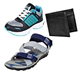 #10: Earton Men Canvas Combo Pack of 3 Sports Shoe & Sandal With Wallet
