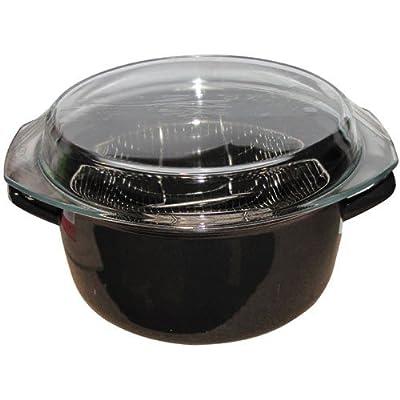 Friteuse en émail - D: 26 cm - noir