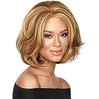Breve ricci marrone scuro parrucca di alta qualità donne glamour