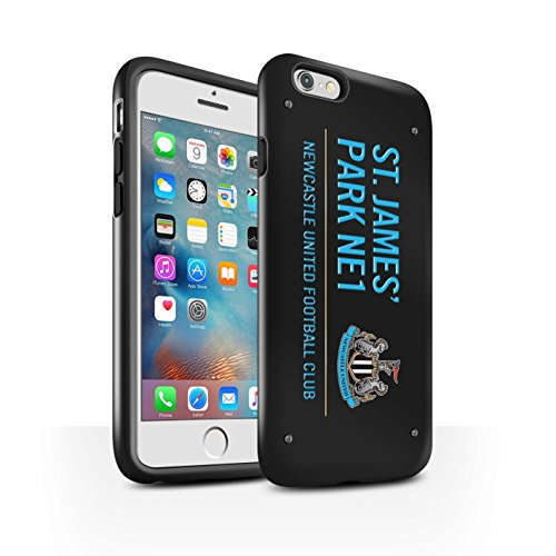 Offiziell Newcastle United FC Hülle / Glanz Harten Stoßfest Case für Apple iPhone 6S+/Plus / Pack 6pcs Muster / St James Park Zeichen Kollektion Schwarz/Blau