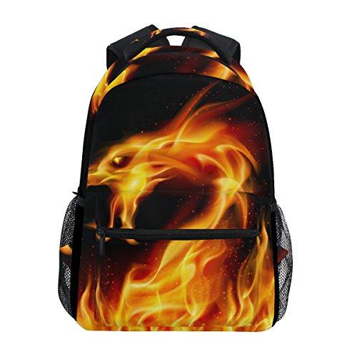 COOSUN Dragón de Fuego Mochila Casual Escuela Mochila bolsa de viaje Multicolor