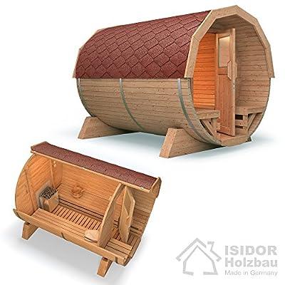 Fasssauna Saunafass Tonnensauna 3m inkl. HARVIA Saunaofen von ISIDOR Holzbau bei Du und dein Garten