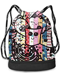 aae536f6a1 Sacche ZKHTO Pink Pineapple Fashion Beam Mouth Shoulder Bag Travel  Drawstring Backpack Shoulder for Women Sport ...