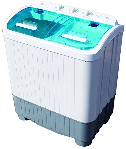 Leisurewize Camping-Waschmaschine, mit Doppelwanne, Wäscheschleuder, für Camping, Wohnmobil, Wohnwagen