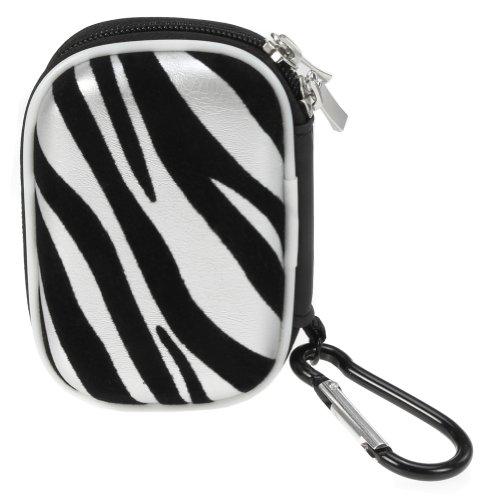 BIRUGEAR Schutztasche Aufbewahrungsbox l für Wireless Bluetooth 3.5 mm Hands-free Kopfhörer Sport-kopfhörer Ohrhörer ( Zebra )