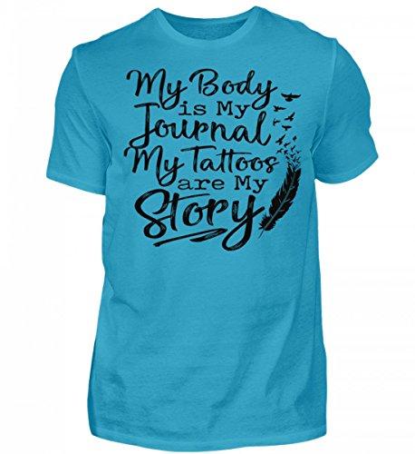 Tattoos My Body is My Journal - Herren Premiumshirt -S-Turquoise