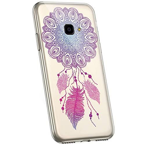 Preisvergleich Produktbild Jinghuash Kompatibel mit Galaxy Xcover 4 Hülle, Kompatibel mit Galaxy Xcover 4 Hülle Transparent TPU Silikon mit Mandala Blume Muster Ultra Dünn Durchsichtig TPU Handyhülle Tasche Case, Mandala 11