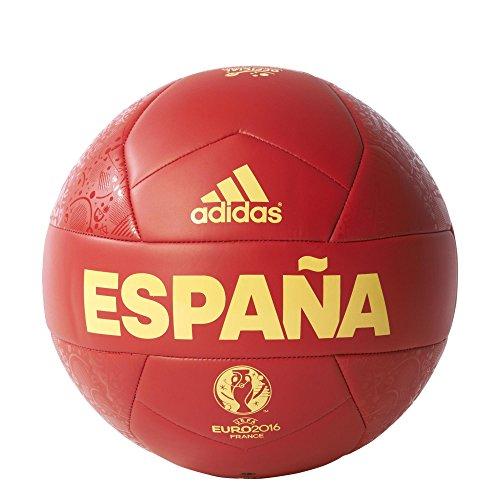 adidas Euro16 OLP Esp C - Balón, color rojo / amarillo, talla 5