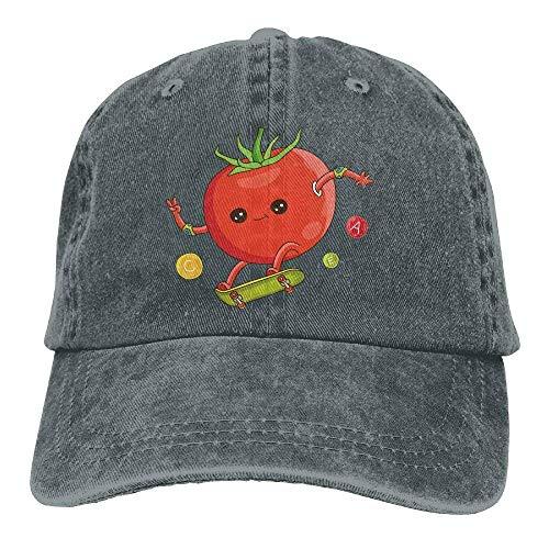 JINHBYV Funny Tomato Skateboard Snapback Cotton Hat -