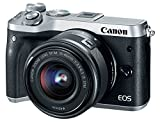 Canon EOS M6 Appareil photo hybride + EF-M 15-45 mm IS STM + EF-M 55-200mm IS STM - Argent