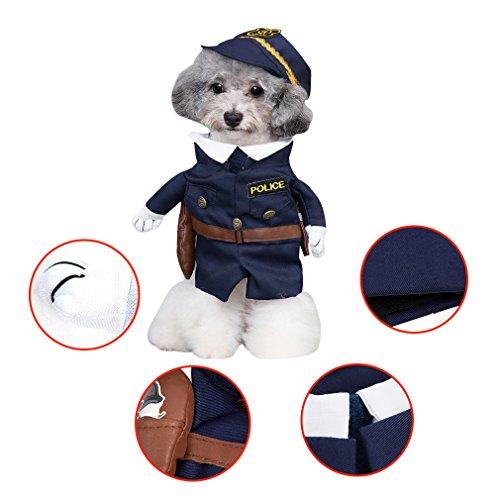 RuoShui Pet Hund Katze Kostüm Funny Fancy Pet Cowboys Kostüm Jacke Party Pet Kleidung für Katze Hund mit Hut Kleid up Dog Apparel Katze Kostüme Coat, 4