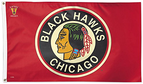 ckhawks NHL Throwback Vintage 3 x 5 ft Deluxe Flagge ()