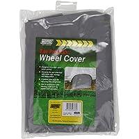 Maypole - Cobertor para rueda de caravana con piquetas, 65x 21mm, color gris. Modelo 93665