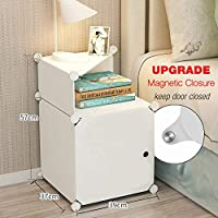 TEREU bedside table night stand end table side tables bed side nightstand for bedroom with storage small cabinet portable DIY Cabinet nightstand