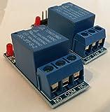 Modulo relè a un canale, 5V DC 10A, innesco a bassa tensione, kit da 2 pezzi per Arduino e altri ambienti di sviluppo, RBTMKR