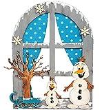 Petra's Bastel News Fensterbild Schneemänner Bastelset, Holz, Holzfarben, 25 x 18 x 5 cm