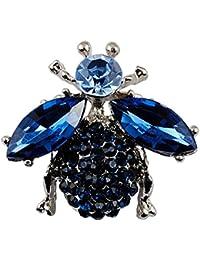 Sticks Jewelry - Broche de insecto de abeja de alta calidad azul, broche de diamantes de imitación azul , perfecto regalo de boda de la joyería animal