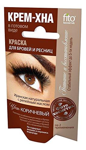 Henna Creme für Augenbrauen und Wimpern Farbe braun , 2 x 2 ml Краска для бровей и...