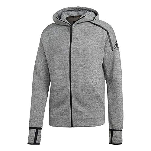 adidas Z.N.E. Hoodie Feat. Fast Release Zipper, Track Tops Uomo, zne Med Grey Htr, S