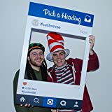Personalised Instagram Social Media Selfie Photo Frame Birthday Party Booth Prop A1