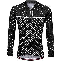 MagiDeal Damen Radfahren Jacke-Winter Lange Ärmel Fahrrad Trikot Sportbekleidung Schwarz