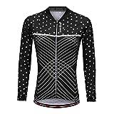MagiDeal Damen Radfahren Jacke-Winter Lange Ärmel Fahrrad Trikot Sportbekleidung Schwarz - L