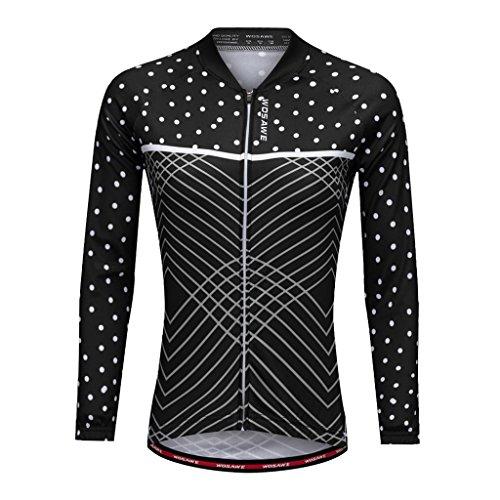 MagiDeal Damen Radfahren Jacke-Winter Lange Ärmel Fahrrad Trikot Sportbekleidung Schwarz - XL