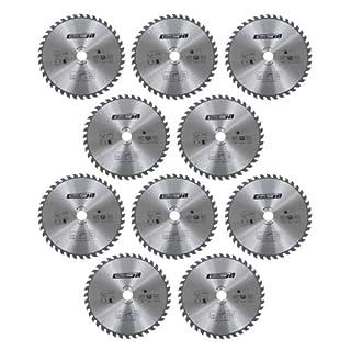 Work-plus 73637 Kreissägeblatt, 400 mm Durchmesser, 36 Zähne, Schnittbreite 3 mm, silber (1 Stück)
