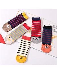 Affe 5Pair/lot niños niños calcetines algodón suave carcasa de los niños niñas calcetines
