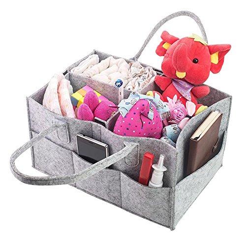 Pingxia Baby Wickeltasche Grau Multifunktionale Windel Tasche Unisex Wickel Taschen Modern mit Wandelbare Klett Fächer (Baby-mädchen-rosa-windel-taschen)