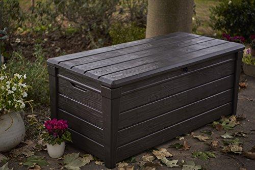 Keter Brightwood Outdoor Plastic Storage Box Garden Furniture, 145 x 69.7 x 60.3 cm – Brown