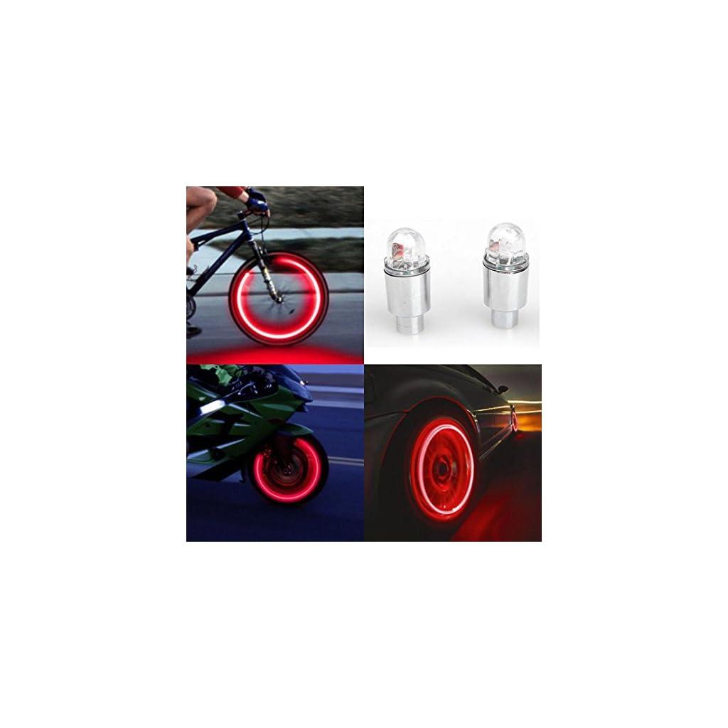 leggero Set 2 copri-valvola a LED per pneumatico Vovotrade/® accessorio per auto // bicicletta // moto