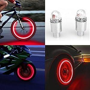 51f78LUuBWL. SS300 Vovotrade® - Set 2 copri-valvola a LED per pneumatico, leggero, accessorio per auto / bicicletta / moto