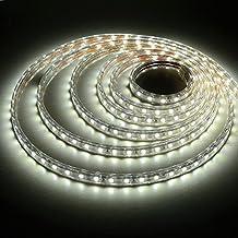 Liqoo® 40W LED Tira de Luz 5m Blanco Frío 6000K IP65 Resistente al Agua Diseño de Separación DIY Longitud No necesita Transformador