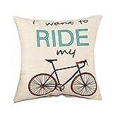 WDOIT Fahrrad Serie Sofa Kissenbezüge Büro Kissen Auto Sitzbezug Leinen Home Dekoration (ohne Filler)